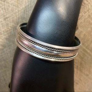 TAHE Sterling Silver Cuff Bracelet